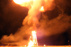 Burning Man Oil Rig Explodes into a 300+ ft Fire Ball / Mushroom Cloud at Burning Man 2007 by HabitForming