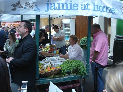 Jamie Oliver in Borough Market