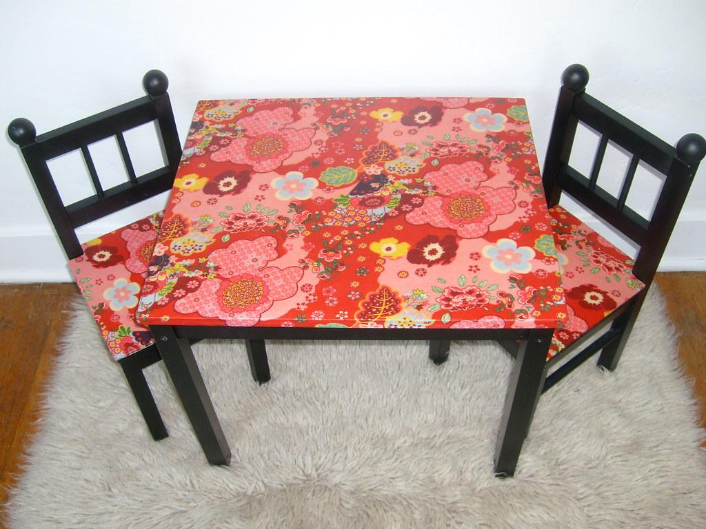 Custom Oilily Kimono Table Set