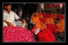 Flower shop (Naeem Rashid) Tags: flowers pakistan flower colors d50 nikon colorful streetphotography colourful punjab lahore flowershop shopkeeper aplusphoto diamondclassphotographer flickrdiamond colourartaward