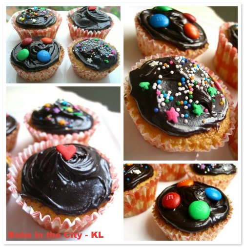Chocolate Glazed Cupcakes Mosaic