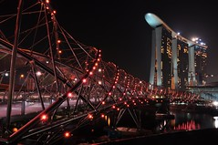 Helix Bridge (Rosanna Leung...away for 2 weeks) Tags: bridge marina hotel bay singapore casino sands singaporeriver pedestrain marinacentre  marinasouth    helixbridge   marinabaysands  mbssingapore