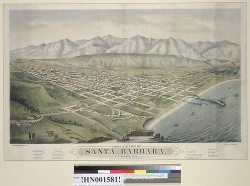Map of Santa Barbara ca 1877