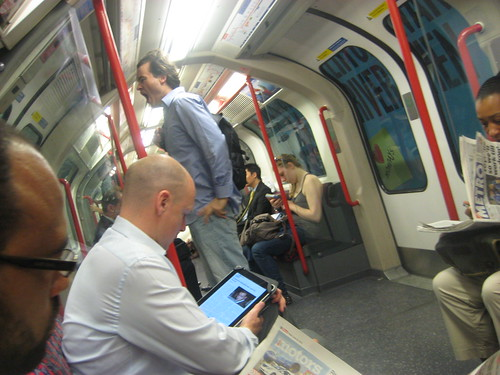 iPad on Tube by Annie Mole