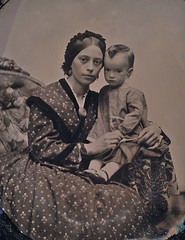 Gentle Mother with Sickly Son, 1/9th-Plate Ruby Ambrotype, Circa 1861 (lisby1) Tags: portrait fashion century vintage children photography early 19thcentury 1800s victorian tintype ambrotype daguerreotype edwardian geneology 19th earlyphotography nineteenthcentury privatecollection