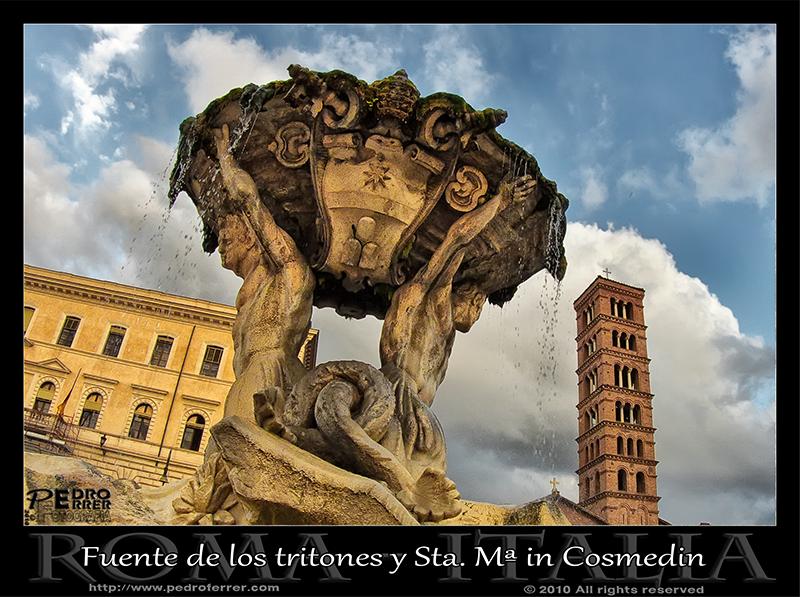 Roma - Fuente de los Tritones y Sta. Mª in Cosmedin