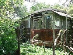 Trolley Car Cafe (Country Squire) Tags: abandoned car cafe ruins texas trolley tx derelict yesteryear mineralwells us281 trolleycafe