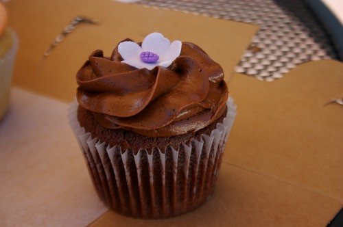 chocolate sour cream with chocolate buttercream