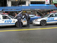 NYPD Car needs a Jump. (buff_wannabe) Tags: nyc dead cops battery police nypd cables repair jumper