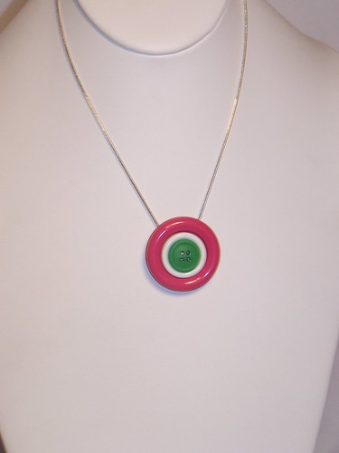 Button Necklace $15