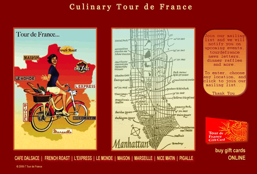 Culinary Tour de France