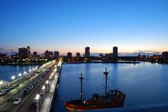 St. Pete Skyline (<  Ad   >) Tags: blue sunset stpetersburg pier slow florida shutter aadil nikond80 adpod