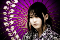 The girl with the purple parasol (II) (manganite) Tags: girls portrait people cute topf25 colors beauty face fashion japan digital umbrella geotagged asian japanese tokyo costume cool nikon topf75 bravo asia purple cosplay tl young teens posing style topf300 parasol harajuku fancy yukata teenager  onecolor nippon  d200 nikkor gals topf150 effect topf100 topf250 topf200 nihon kanto orton stylish japanesegirl treatment  thecolorpurple interestingness13 supershot i500 18200mmf3556 utatafeature manganite nikonstunninggallery ipernity anawesomeshot aplusphoto superbmasterpiece diamondclassphotographer flickrdiamond geo:lat=35669842 geo:lon=139702505 date:year=2006 date:month=july