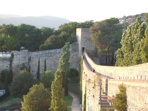 Medieval city walls.