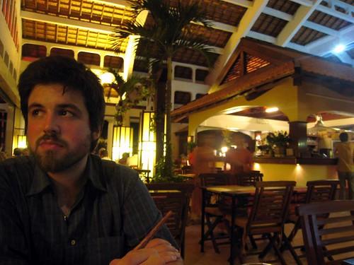 Husbear waits for food at Sao Hom