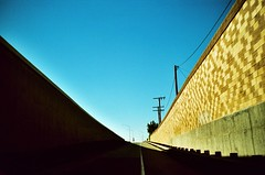 55 Freeway onramp at Katella - by The GC Four
