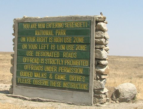 Serengeti Park Entrance Sign