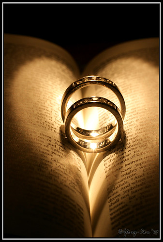 no the page of the bible wasn 39t at all related to the rings haha