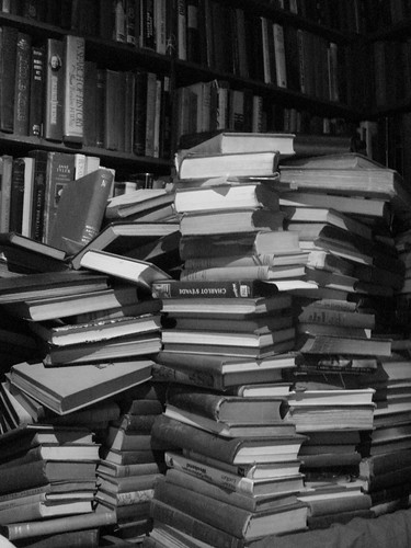 Books in a Stack, by austinevan on Flickr