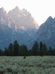 The Grand Tetons (Karen Wilson Hagy) Tags: sunset mountains wyoming tetons