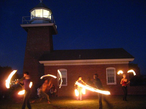 Fire Spinning at Santa Cruz Lighthouse