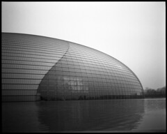 bling dynasty (beetabonk) Tags: china 120 mediumformat beijing  6x7  theegg ilfordpanf selfdeveloped pentax67  nationalcenterfortheperformingarts rodinal1501100 cnbjp67panf0510009
