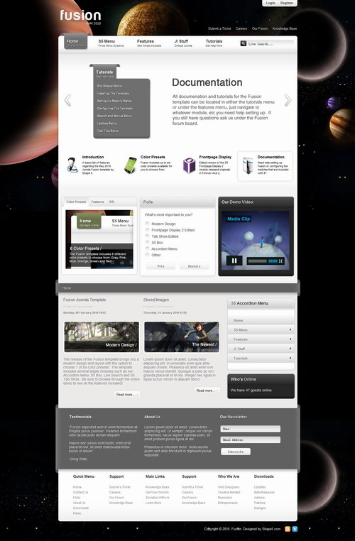 Fusion   May 2010 Joomla Club Template