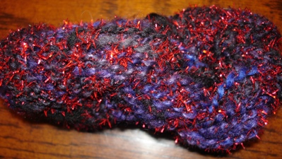 Purple & Red Novelty Wool