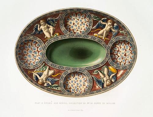 016-Plato de especies llamado de los genios-coleccion Conde de Buillon-Monographie de l'oeuvre de Bernard Palissy…1862