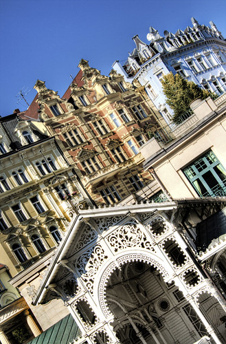 Pergola, colors. Karlovy Vary