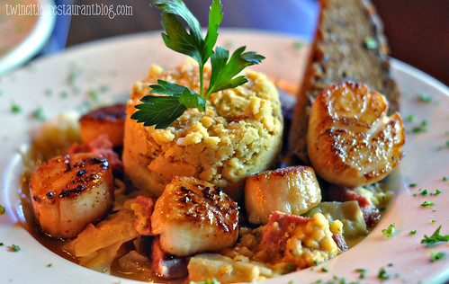Scallops over Corned Beef and Cabbage at Cork's Irish Pub ~ St Paul, MN