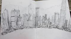 Hong Kong habour skyline