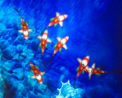 Digital Aquarium .:*`*:. (Tomitheos) Tags: ocean blue red sea orange fish june 3d flickr underwater graphic modernart digitalart sealife daily caribbean reef now today undersea eyecandy globalwarming 2007 bluehue blueplanet smrgsbord stockphotography photorealistic aquatica laserlight ultimateshot greatwallpaper  globalwarmingawareness tomitheos ourwarmingplanet digitalartmedia llusionaquarium environmentalchanges flickrsrainbowpics