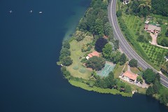 Lago di Monate - Cottages near Travedona Monate (_ Night Flier _) Tags: above travel blue sky italy panorama lake green nature water airplane landscape flying high view earth top aviation aerial h2o fromabove coastline lombardia varese cessna skyview lombardy birdeye aeronautic travedonamonate lagomonate
