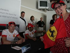 Got my Ferrari flag signed by Kimi Raikkonen! - by ktpupp