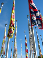 flags (overthemoon) Tags: sky up switzerland evening faces smiles flags lausanne breeze ouchy romandie supershot bfv1 27flags