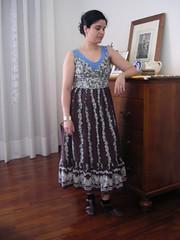 Outfit 21-06-07 (TerrySuperqueen) Tags: floral vintage dress sandals tanktop dresser printed zara tbar