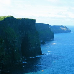 Cliffs of Moher (limerickdoyle) Tags: blue ireland sea green clare cliffs atlantic burren cliffsofmoher westofireland seaviews canon400d