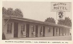 Blume's Hillcrest Motel (neshachan) Tags: postcard motel lookout wv westvirginia vintagepostcard postcards blume hillcrest motels wva modernmotel vintagepostcards hillcrestmotel blumeshillcrestmotel hillcrestmodernmotel blumeshillcrestmodernmotel lookoutwv blumesmotel
