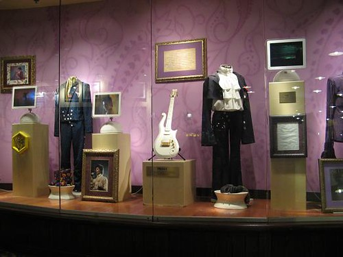 Prince exhibit at the Minneapolis Hard Rock Cafe