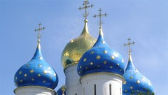 Onion Domes - hagymakupolk (elisabatiz) Tags: blue church russia aplusphoto flickrdiamond