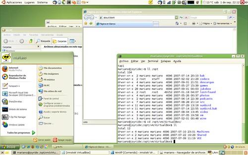 VirtualBox 1.5 Seamless windows