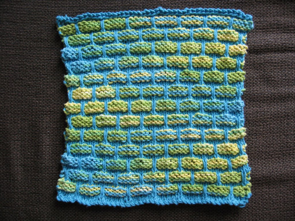Dishcloth blue multi