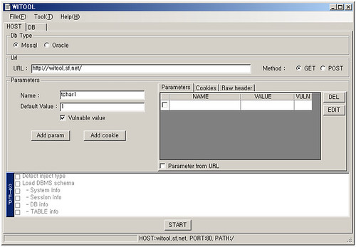 WITOOL v0.1 SQL Injection Tool