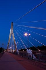 Most witokrzyski # 3 (MadeByBak) Tags: street light sky night steel poland polska bluesky most warsaw warszawa wisa noc mazowsze mostwitokrzyski swietokrzyskibridge
