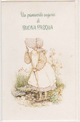 HOLLY HOBBIE 70s Easter greeting card - biglietto auguri Pasqua (THE MYCIA COLLECTION) Tags: frank sister valentine sanrio mattel hollyhobbie loveis sarahkay misspetticoat bonniebonnets betseyclark baravelli