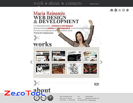 FlashMint 2734 Business style web design XML flash portfolio