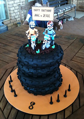 Carter mx 3 (ClaresCakes) Tags: bike cake stack dirtbike figurine motocross tyre fondant