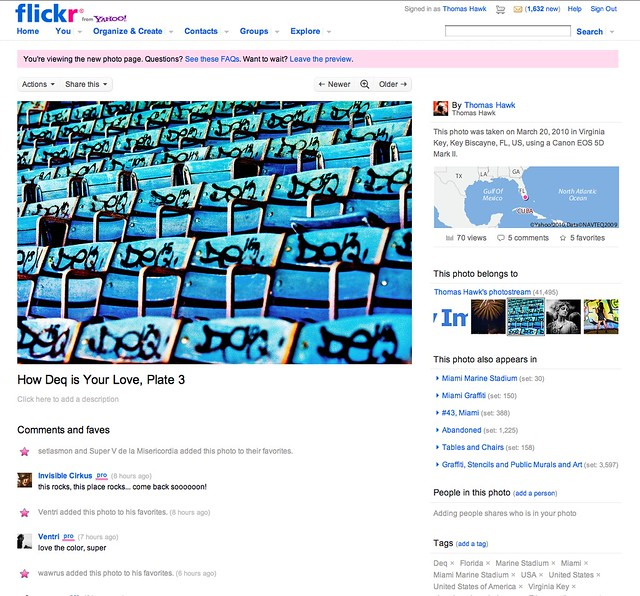 Flickr Redesigns Their Photo Page