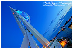 Portsmouth Architecture; Blue Spinnaker Tower... (davidgutierrez.co.uk) Tags: city uk blue light sky urban building tower architecture night buildings dark spectacular geotagged photography photo arquitectura cityscape darkness image dusk sony centre picture cities cityscapes center structure architectural nighttime 350 photograph hour portsmouth architektur nights sensational metropolis bluehour alpha spinnaker impressive touristattraction dt nightfall municipality edifice cites f4556 1118mm platinumphoto saariysqualitypictures sonyalphadt1118mmf4556 colorsspinnakertower sony350dslra350